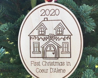 2020 New Home Ornament   First Christmas in new home 2020 Ornament   Christmas 2020   Housewarming Gift Ornament
