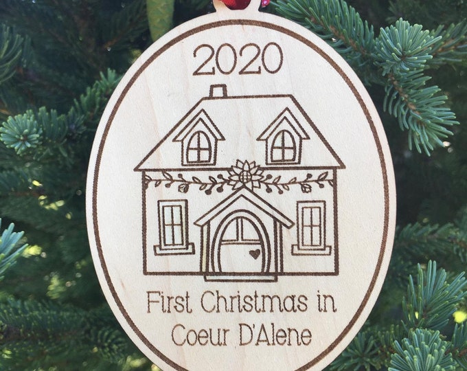 2020 New Home Ornament | First Christmas in new home 2020 Ornament | Christmas 2020 | Housewarming Gift Ornament
