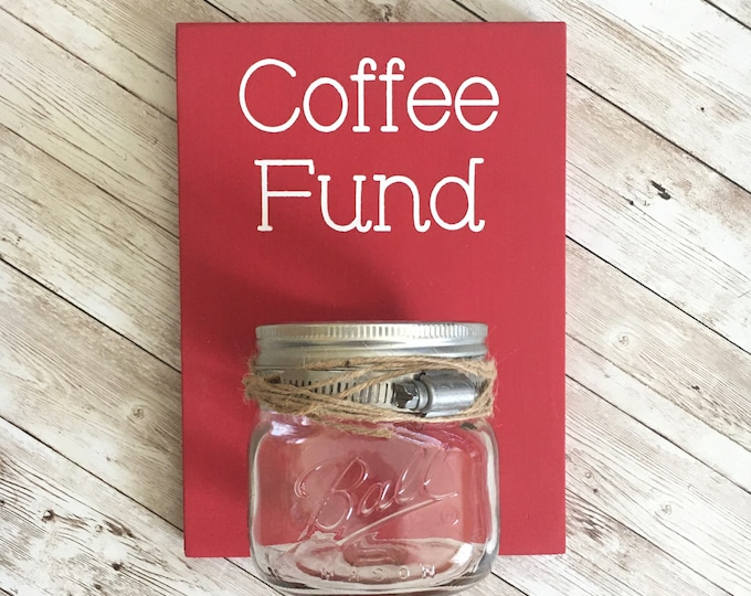 Coffee Fund Coin Jar | Color Pop Series | Laundry Room Decor & Organization | Multi Color Options