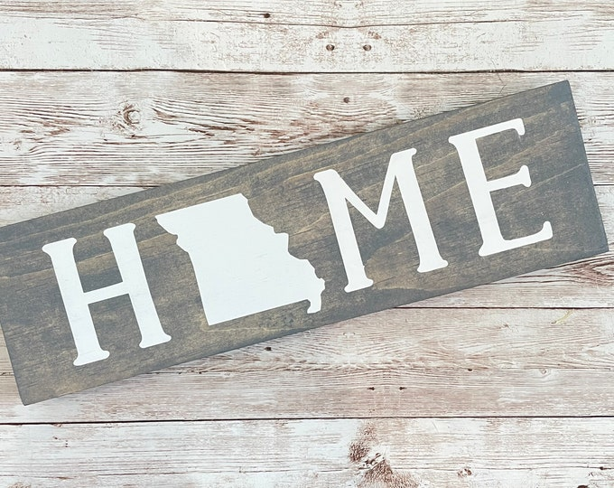 """Missouri Home State Wood Sign 
