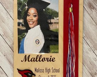 Custom Graduation Tassel + Photo Plaque | Tassel Holder | Senior 2021 Grad Decor | High School Graduation Photo Frame | Class of 2021