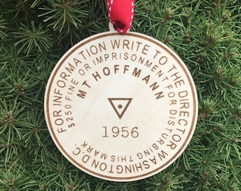Mt. Hoffmann Bench Mark Ornament | Yosemite Hiker Ornament | Mountain Benchmark | Hiker Gift | Hiking Gift Idea | Custom Requests Welcome