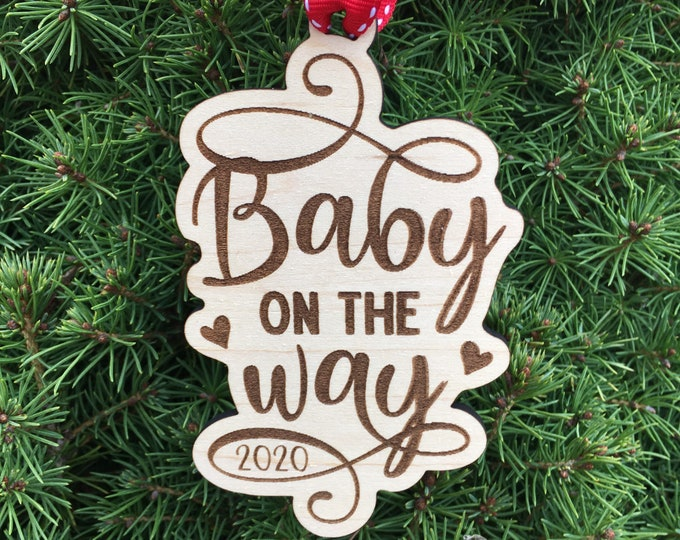Baby on the way Ornament | Pregnant Mom Christmas Gift  | Christmas 2021 | New Baby Gift | Baby gift ideas