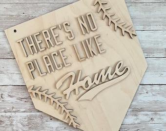 DIY Baseball There's No Place Like Home Paint Your Own Sign Kit | Ball Field Sign | Baseball Mom Gift | Baseball Family Sign