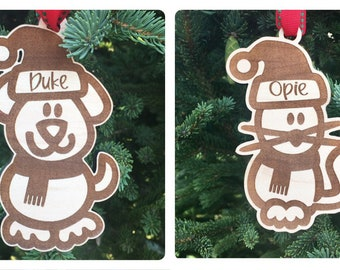 Personalized Cat or Dog Christmas Ornament | Pet Name Ornament | Personalized Tree Ornament | Custom Christmas Gift Tag