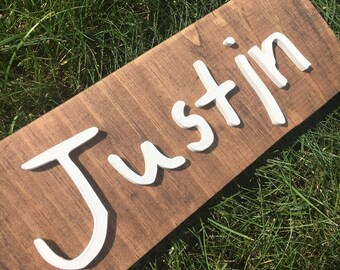Custom Child Handwriting Sign   Kid First Name Sign   Laser Cut Wood Sign   Signature Sign   3D Wood Sign