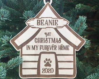 First Furever Home Christmas Ornament | first Christmas with Furever Family| Christmas 2020 | New Puppy Gift | Dog gift ideas