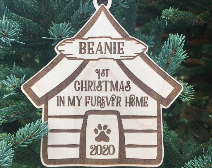 First Furever Home Christmas Ornament | First Christmas with Furever Family | Christmas 2020 | New Puppy Gift | Dog gift ideas