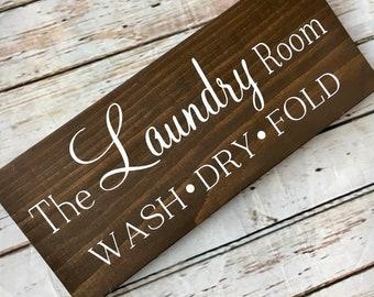 The Laundry Room multi size wood sign   Laundry Room Decor   Wash Dry Fold sign   Laundry Decorations   Laundry Room Decor