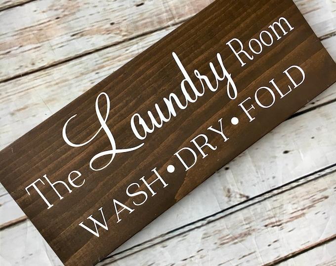 The Laundry Room multi size wood sign | Laundry Room Decor | Wash Dry Fold sign | Laundry Decorations | Laundry Room Decor
