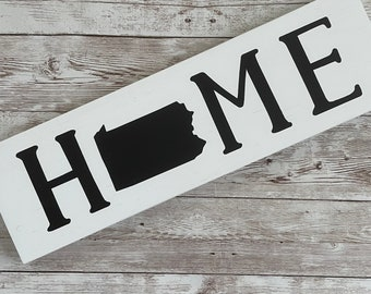 """Pennsylvania Home State Wood Sign 