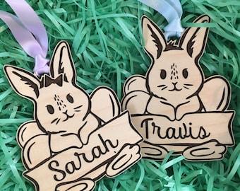 Easter Basket Tag | Custom Easter Basket Tag | Girl or Boy Bunny Tag | Easter Basket Gift Tag