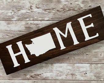 """Washington Home State Wood Sign 