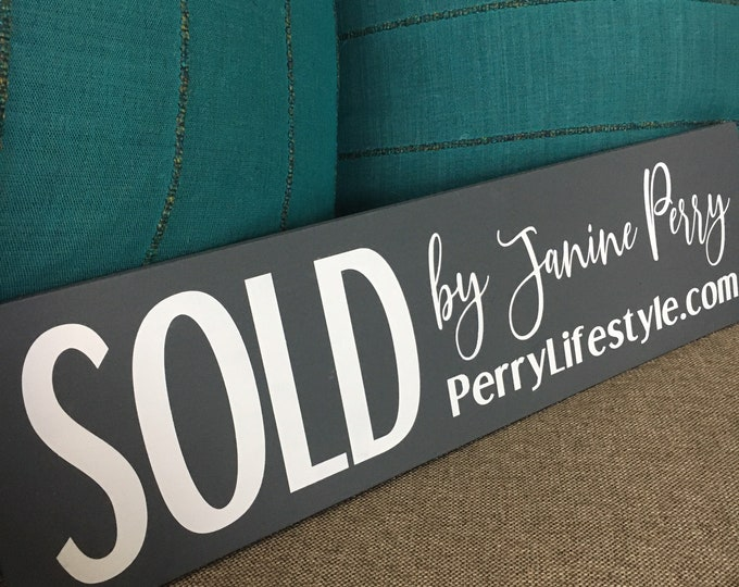 Sold by... Custom Realtor Marketing Sign   Realtor Props   Closing Day Sign   Realtor Sold Sign