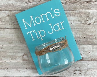 Mom's Tip Jar | Color Pop Series | Laundry Room Decor & Organization | Multi Color Options