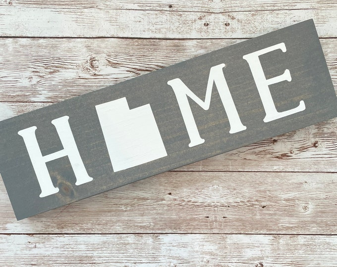 """Utah Home State Wood Sign 
