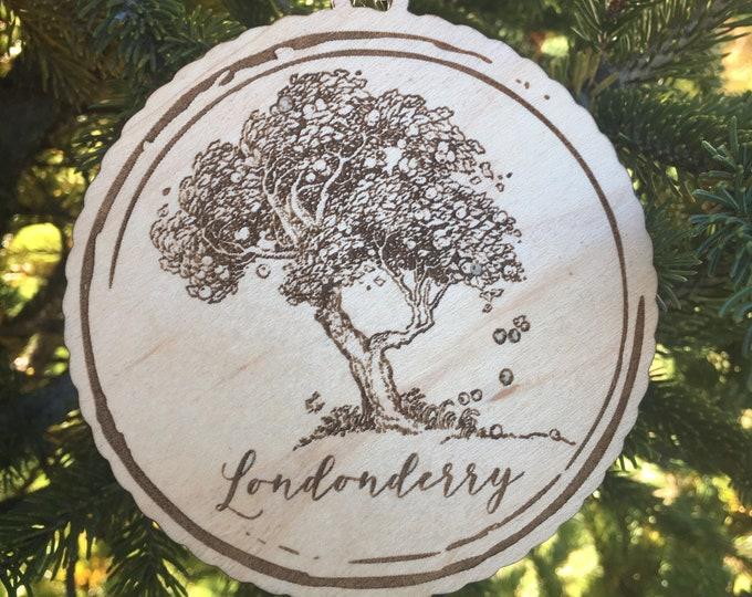 Apple Tree Ornament | Personalized Apple Tree Name Ornament | Apple Picking Ornament | Apple Orchard Gift Idea