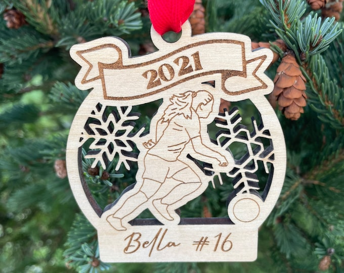 2021 SAMPLE SALE | Soccer Player Christmas Ornament | Personalized Football Ornament | Soccer Team Ornament | 2021 Christmas