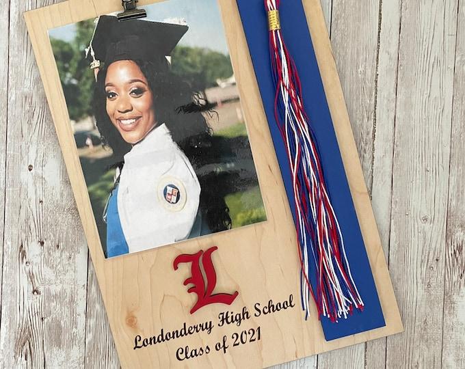 Custom Graduation Tassel + Photo Plaque   Tassel Holder   Senior 2021 Grad Decor   High School Graduation Photo Frame   Class of 2021