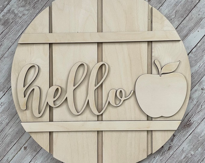 DIY Hello Apple Paint Your Own Sign Kit    Fall Apple Sign   DIY Fall project idea   Front Door Sign