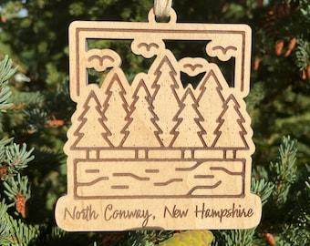 2021 SAMPLE SALE | Scenic Mountain Christmas Ornament | Vacation Memory Gift | Mountain Wedding Favor | 2021 Christmas Ornament