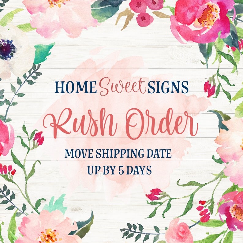 Rush Order Fee  Move Shipment Date up by 5 Days  Rush Order image 0