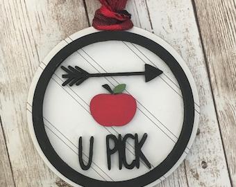 Londonderry U Pick Apple Ornament | Apple Picking Memories Ornament | Apple Picking Memories