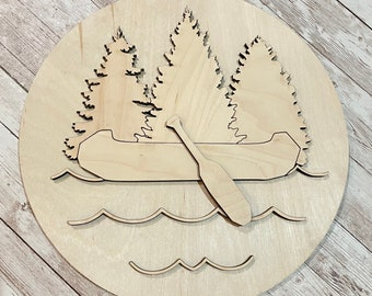 DIY Canoe Lake Paint Your Own Sign Kit | Summer House Sign | DIY Summer project idea | Lake House Decor | Rainy Day at Camp Project Idea