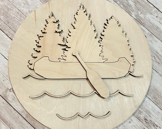 DIY Canoe Lake Paint Your Own Sign Kit   Summer House Sign   DIY Summer project idea   Lake House Decor   Rainy Day at Camp Project Idea
