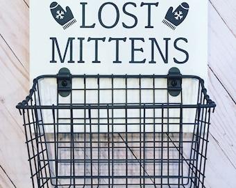 Lost Mittens Basket for Winter Gear Organization | Gloves Basket | Mitten Basket | Winter Glove Basket | Winter Gear Organization