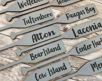 Lake Theme Tiered Tray Mini Oar | Gallery Wall Oar | Lake House Decor | Custom Name Oar | Lake House Decor