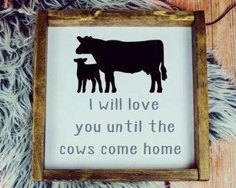 Cow Love Frame