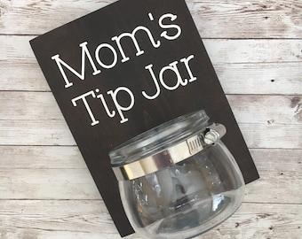 Mom's Tip Jar | Color Pop Series | Laundry Room Decor & Organization | New Mom Gift Idea | Laundry Room Humor
