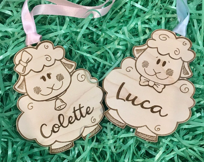 Easter Basket Tag | Bunny Rabbit or Sheep Custom Easter Basket Tag | Girl or Boy Tag | Easter Basket Gift Tag | Easter Basket Treat