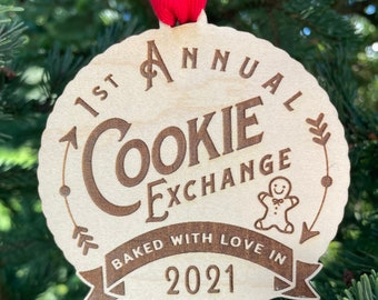 Annual Cookie Exchange Party Favor | 2021 Cookie Swap Party Favor | Cookie Exchange Ornament Prize | Cookie Exchange Prize Ornament