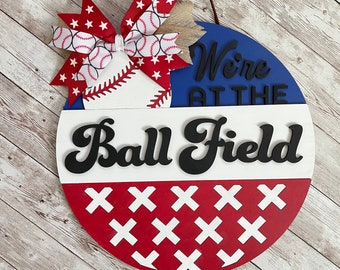 """Custom Baseball Sign in size 12"""" / 16"""" / 18"""" Round Wood Sign 