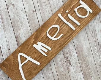 Custom Child Handwriting Sign | Kid First Name Sign | Laser Cut Wood Sign | Signature Sign | 3D Wood Sign