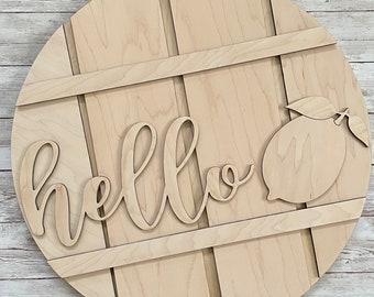 DIY Hello Lemon Paint Your Own Sign Kit | Lemon Summer Sign | DIY Summer project idea | Gift for mom