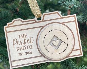 Photographer Ornament | Camera Christmas Tree Ornament | Custom Photography Gift