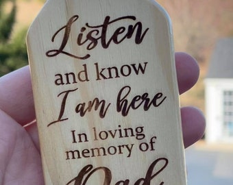 Memorial Wind Chime - Listen and know I am here - In loving memory of wind chime |  Pet Bereavement Gift | Custom Wind Chime | Loss Gift