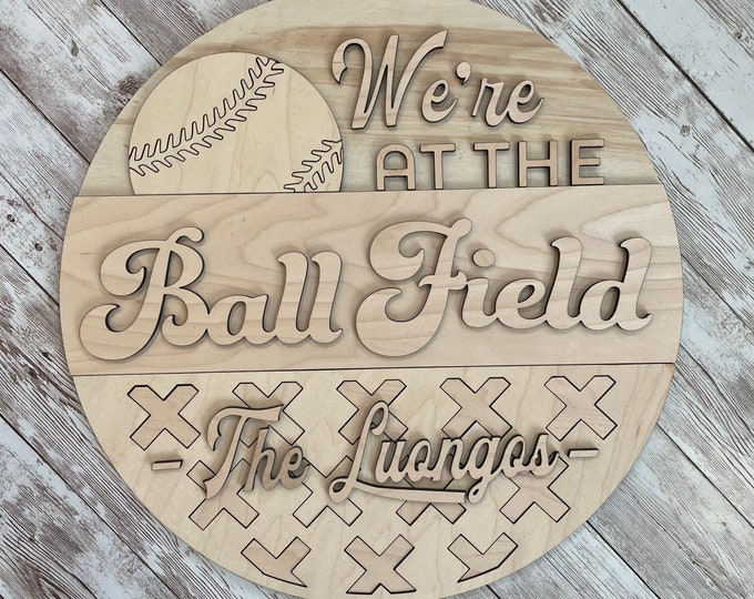 DIY Baseball Wood Paint Your Own Sign Kit   Ball Field Sign   Mothers Day DIY project idea   Baseball Mom Gift   Baseball Family Sign