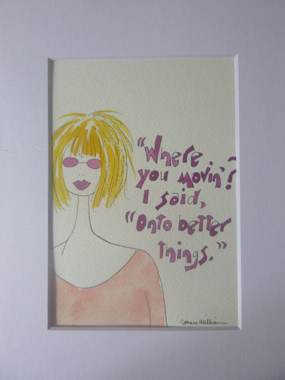 This Cute Girl With Her Short Blonde Hair With This Quote Etsy