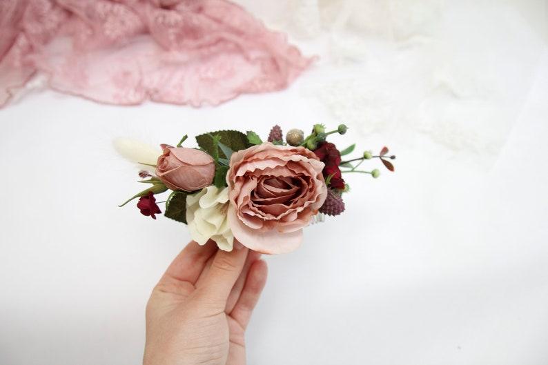 braut kopfschmuck rose blume hochzeit lieferungen brautjungfern kopfbedeckung