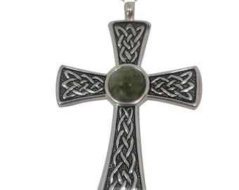 Large Connemara marble Celtic Knot Cross