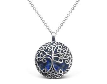 Lapis Lazuli Celtic Tree of Life Pendant