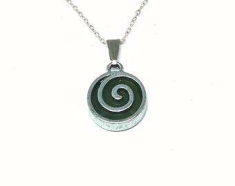 Connemara marble celtic Spiral Pendant