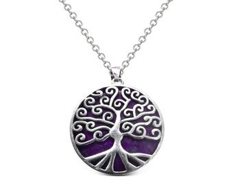 Amethyst Celtic Tree of Life Pendant ( Sterling silver)
