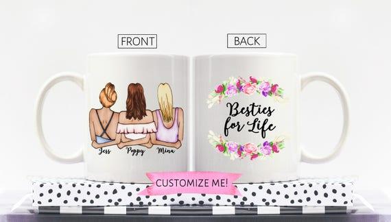 3 Best Friends Gift Three Best Friends Mug Best Friend Etsy