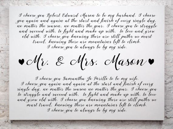 Wedding Vow Keepsake Framed Wedding Vows Framed 1st | Etsy