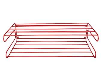 Vintage 1960s Red Wire Shelf